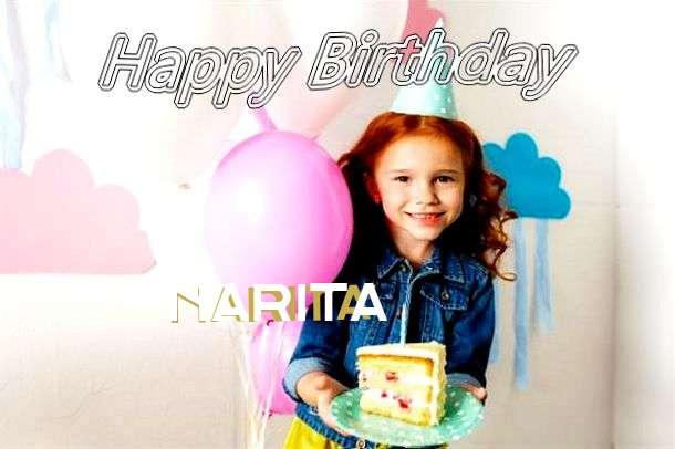 Happy Birthday Narita Cake Image