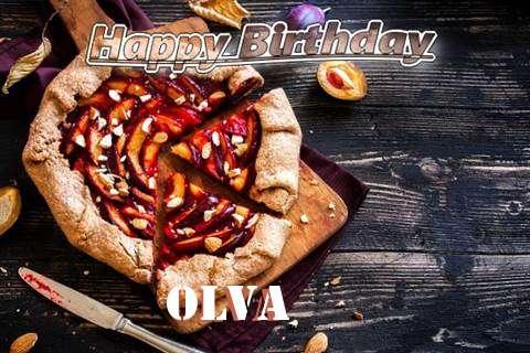Happy Birthday Olva Cake Image