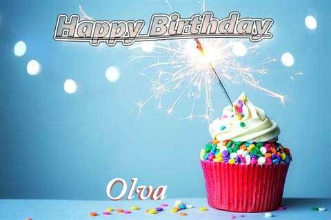 Happy Birthday Wishes for Olva