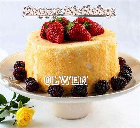 Happy Birthday Olwen Cake Image