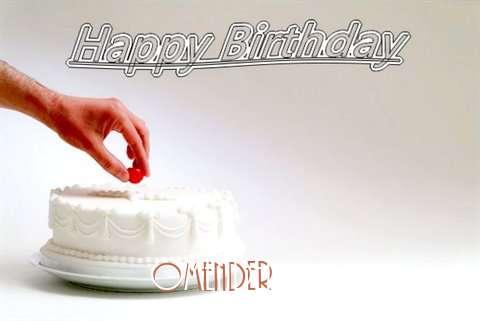 Happy Birthday Cake for Omender