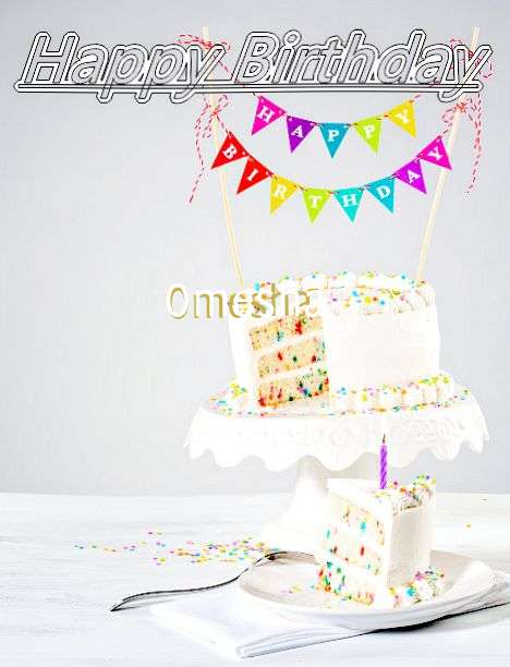 Happy Birthday Omesha Cake Image