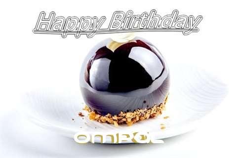 Happy Birthday Cake for Ompal