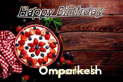 Happy Birthday Omparkesh Cake Image