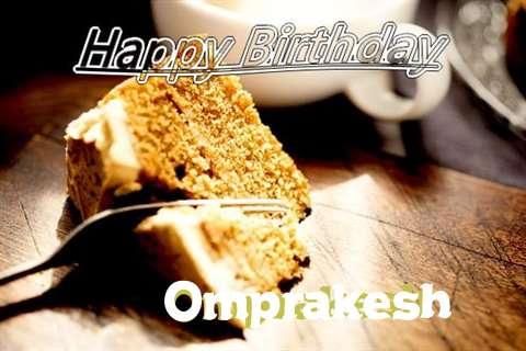 Happy Birthday Omprakesh Cake Image