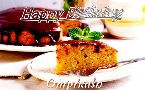 Happy Birthday Cake for Omprkash