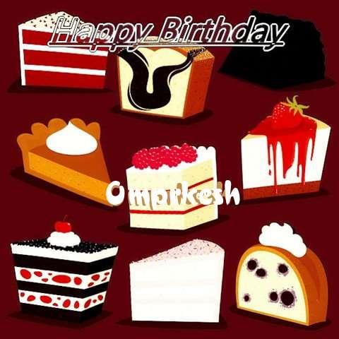 Happy Birthday Cake for Omprkesh