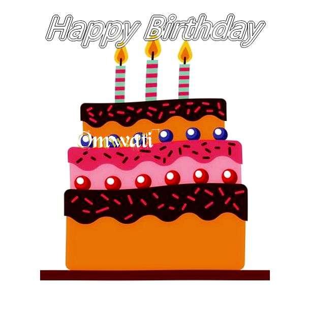 Happy Birthday Omwati Cake Image