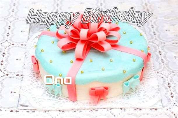 Happy Birthday Wishes for Ona