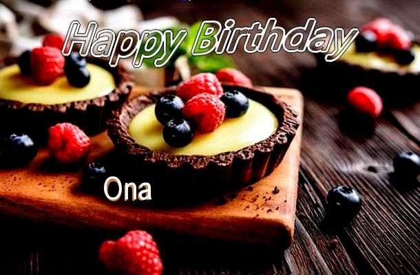 Happy Birthday to You Ona