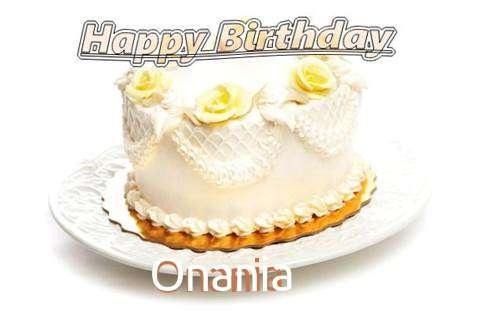 Happy Birthday Cake for Onania