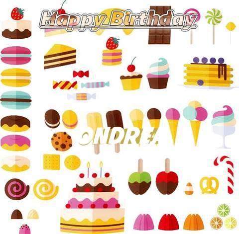 Happy Birthday Ondrea Cake Image