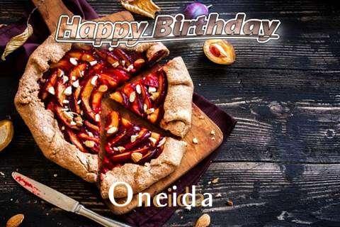 Happy Birthday Oneida Cake Image