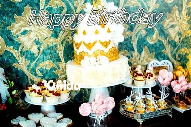 Happy Birthday Onida Cake Image
