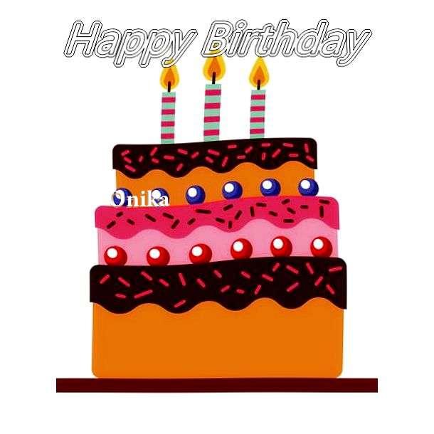 Happy Birthday Onika Cake Image