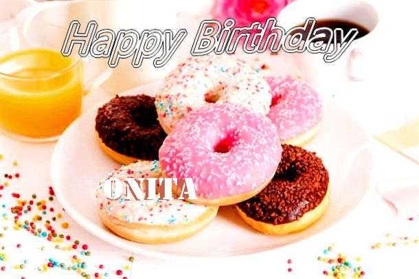 Happy Birthday Cake for Onita