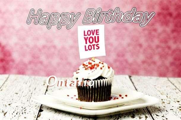 Happy Birthday Wishes for Ontario