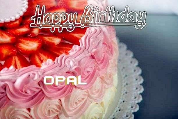 Happy Birthday Opal Cake Image