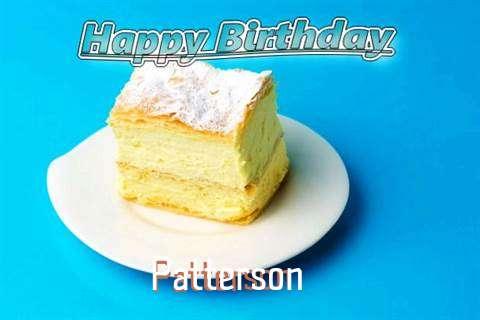 Happy Birthday Patterson Cake Image