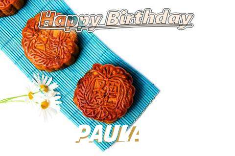 Birthday Wishes with Images of Paula