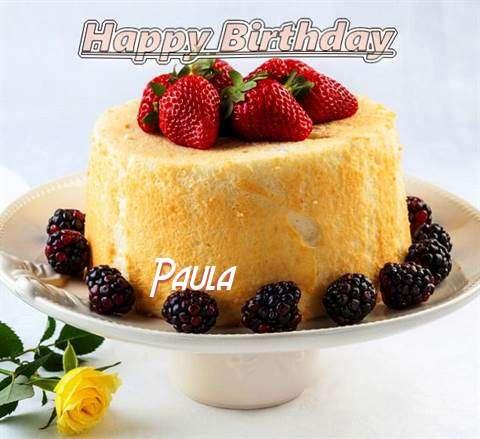Happy Birthday Paula Cake Image