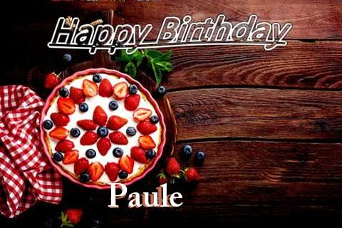 Happy Birthday Paule Cake Image