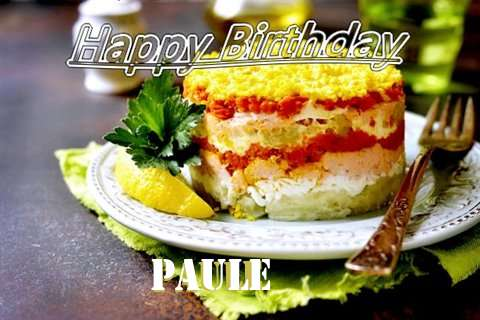 Happy Birthday to You Paule