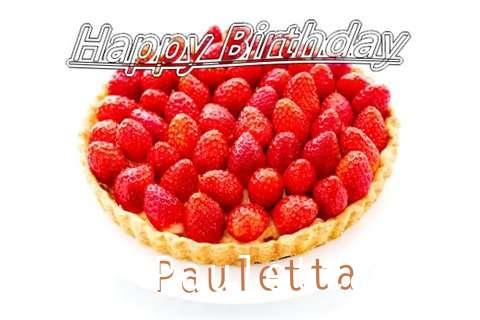 Happy Birthday Pauletta Cake Image