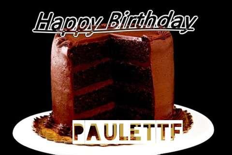 Happy Birthday Paulette Cake Image