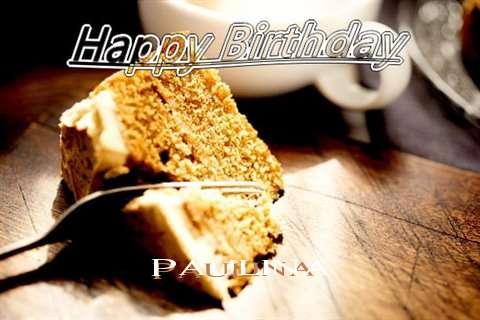 Happy Birthday Paulina Cake Image
