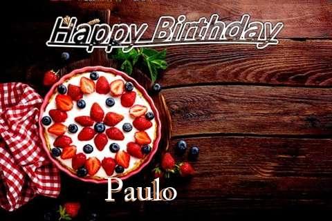 Happy Birthday Paulo Cake Image