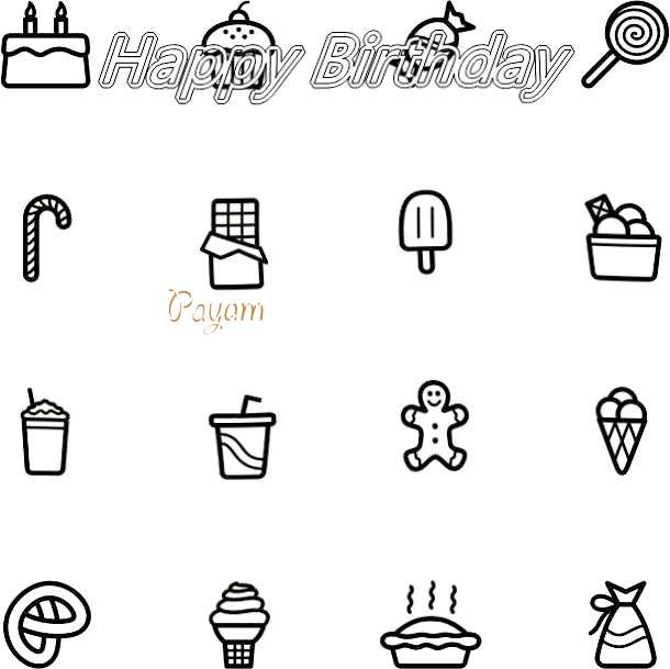 Happy Birthday Cake for Payam