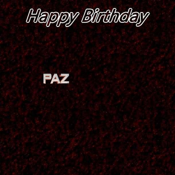 Happy Birthday Paz Cake Image