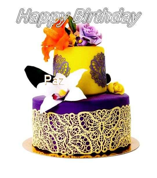 Happy Birthday Cake for Paz