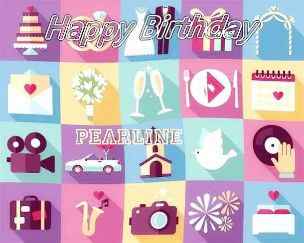 Happy Birthday Pearline Cake Image