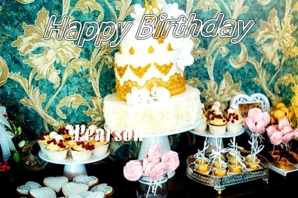 Happy Birthday Pearson Cake Image
