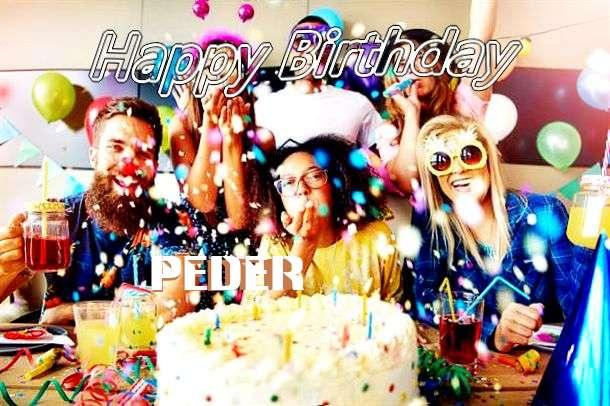 Happy Birthday Peder Cake Image