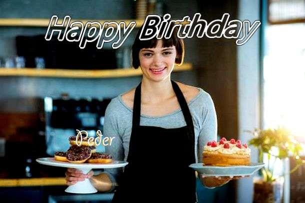 Happy Birthday Wishes for Peder