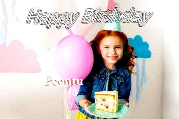 Happy Birthday Peentu Cake Image