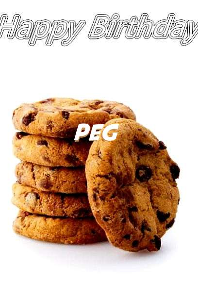 Happy Birthday Peg Cake Image