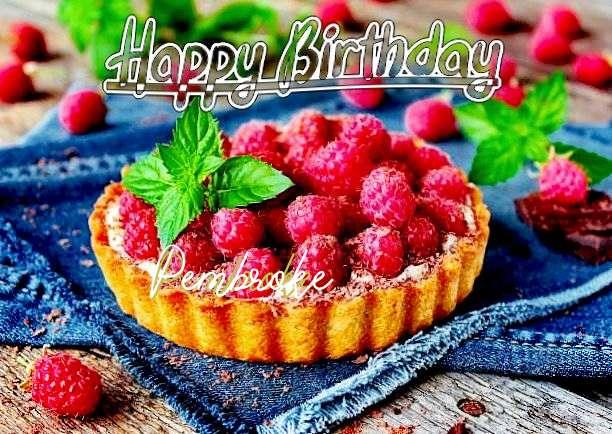 Happy Birthday Pembroke Cake Image