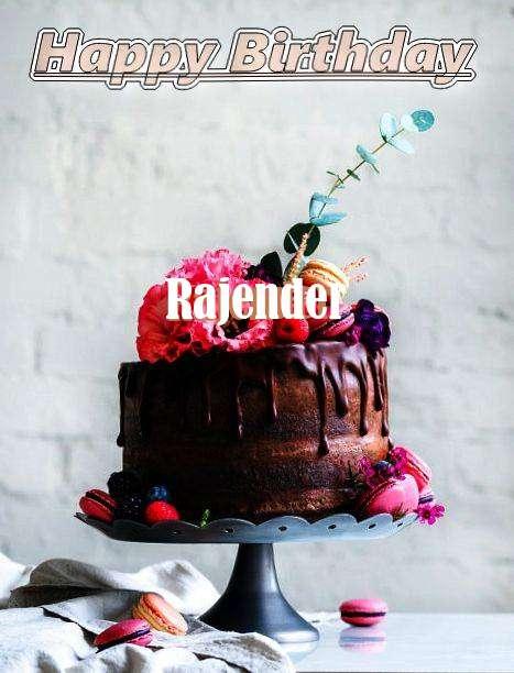 Happy Birthday Rajender Cake Image