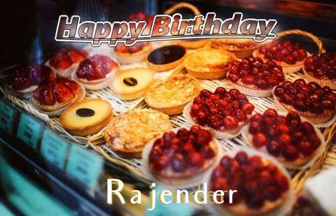 Happy Birthday Cake for Rajender