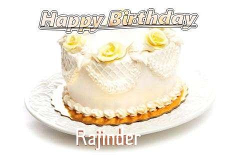 Happy Birthday Cake for Rajinder