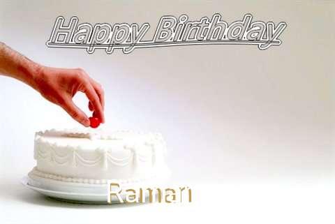 Happy Birthday Cake for Raman