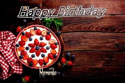 Happy Birthday Ramanda Cake Image