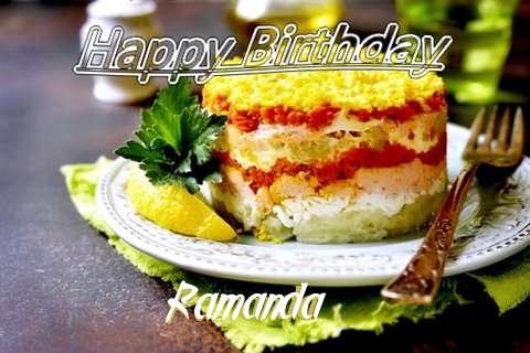 Happy Birthday to You Ramanda