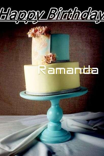 Happy Birthday Cake for Ramanda