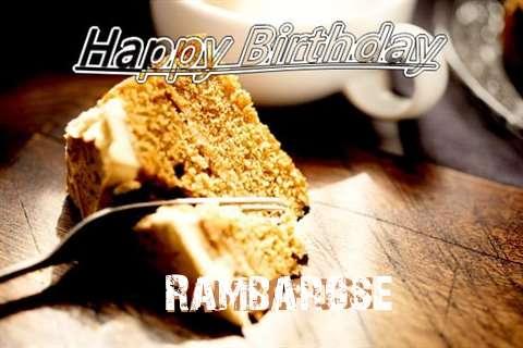 Happy Birthday Rambarose Cake Image