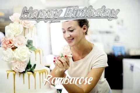 Rambarose Birthday Celebration